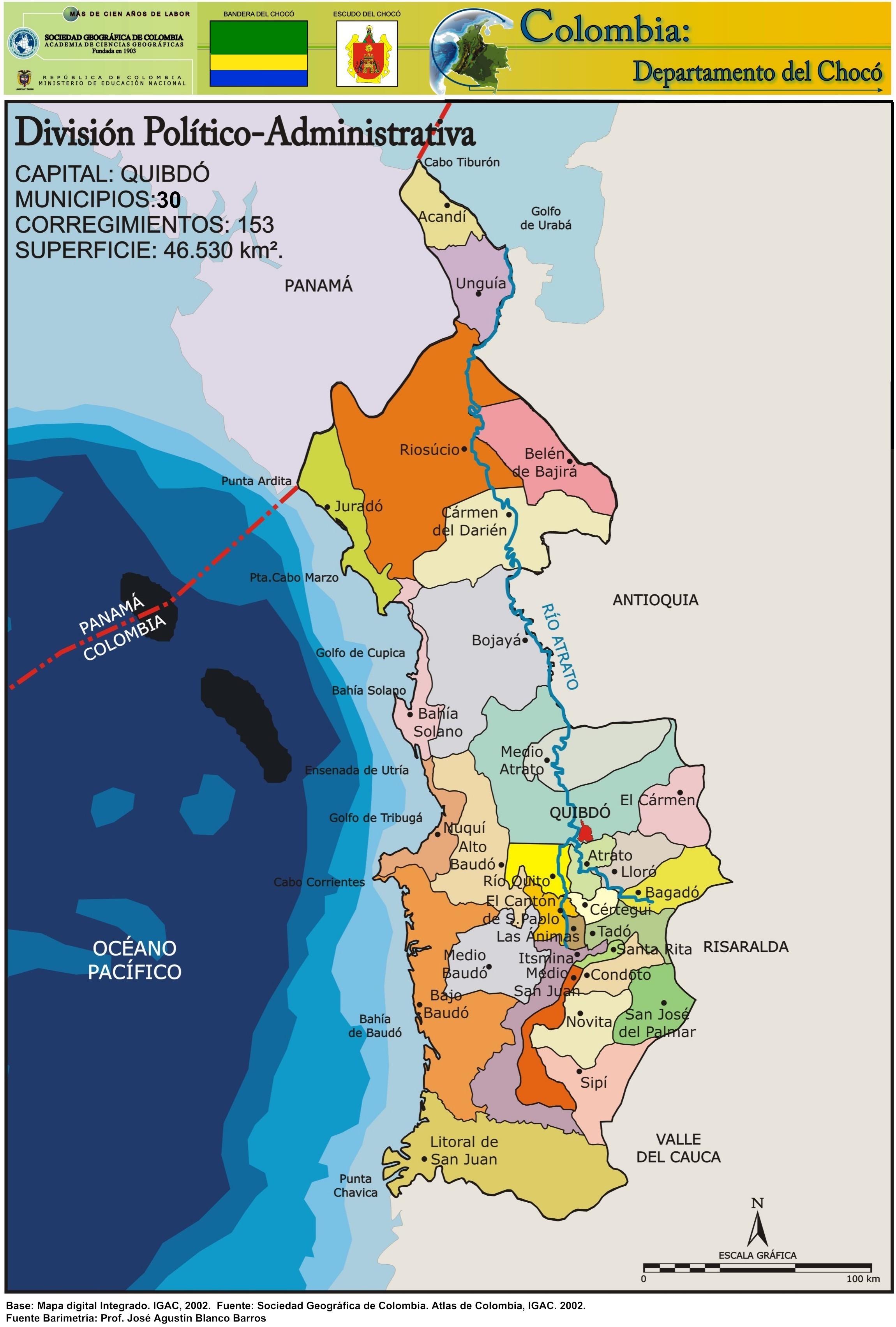 Mapa Choco Colombia